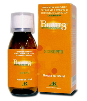 AR Fitofarma Ricerca Naturale Biovit 3 Immunoplus Sciroppo Bambini 125 ml