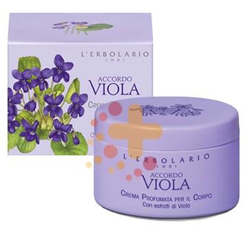 L'Erbolario Linea Accordo Viola Vellutante Elegante Crema Corpo 200 ml