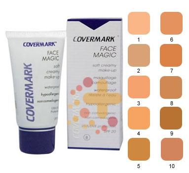 Covermark Linea Face Magic Fondotinta Lunga Tenuta Coprente Viso 30 ml Colore 1