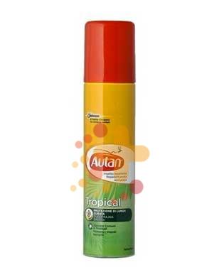 Autan Linea Tropical Spray Secco Delicato Insetto-Repellente 100 ml
