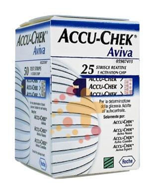 Accu-Chek Linea Controllo Glicemia Aviva 25 Strisce Rilevatrici