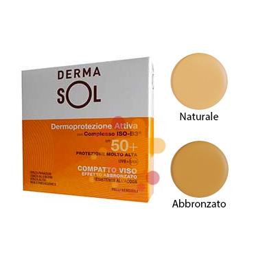Dermasol Linea Protezione Solare SPF50+ Compatto Protezione Molto Alta Naturale