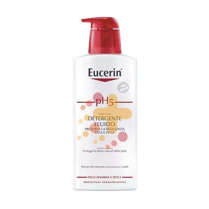 Eucerin Linea pH5 Detergente Fluido Delicato senza Sapone Pelle Sensibile 200 ml